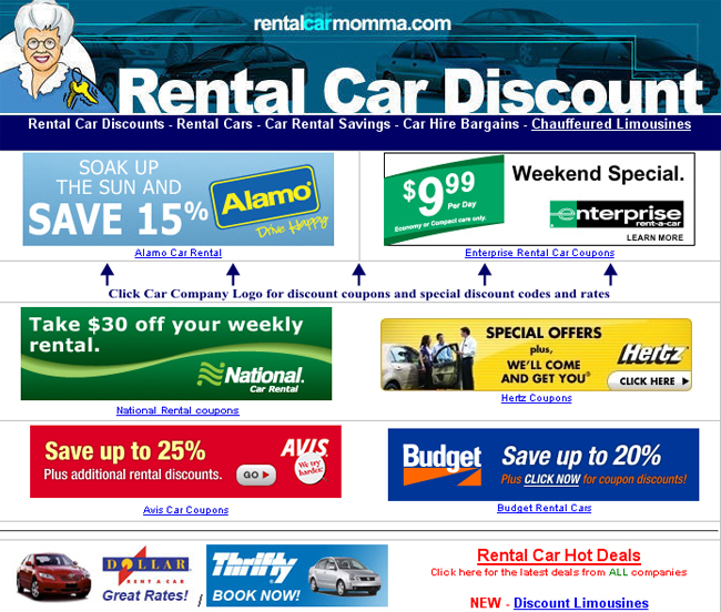 Enterprise rental car coupons discounts