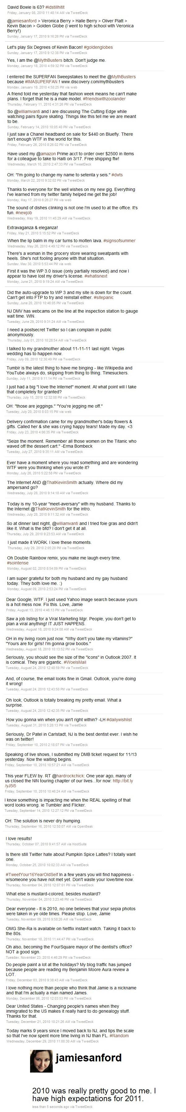 JamieSanford - Tweets of 2010